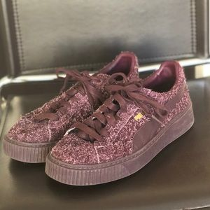 PUMA platform textures shoes